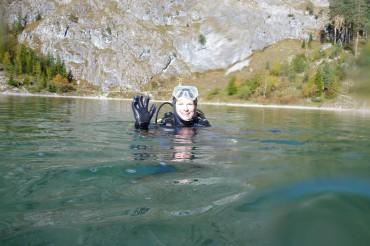 Reportereinsatz unter Wasser