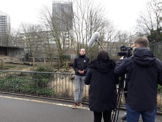 Mit Pressesprecher Christoph Schütt, Zoo Köln