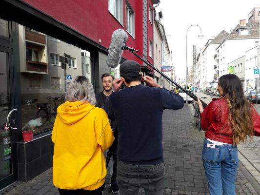 Mit Cafébesitzer Wolf Schönwälder im Gespräch