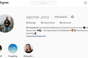 Anna auf Instagram