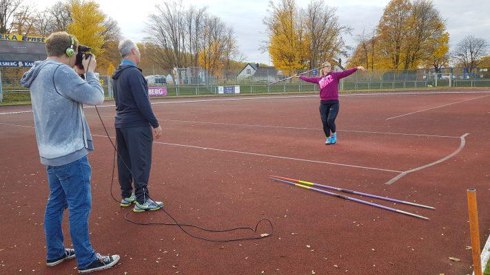 Beim Training mit Vater Hussong und Christin Hussong